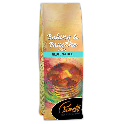 Pamela's Products Baking and Pancake Mix Gluten and Wheat Free -- 24 oz