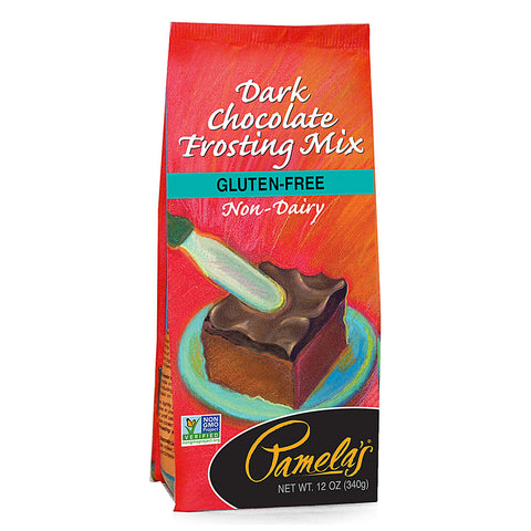 Pamela's Products Frosting Mix Dark Chocolate -- 12 oz