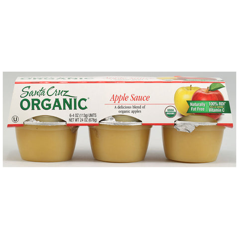 Santa Cruz Organic Apple Sauce -- 6 Cups