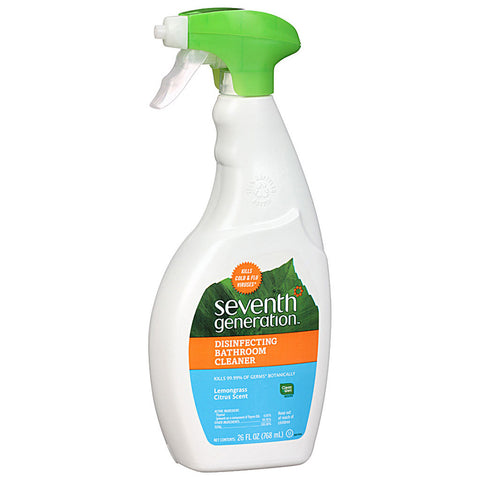 Seventh Generation Disinfecting Bathroom Cleaner Lemongrass and Thyme Scent -- 26 fl oz