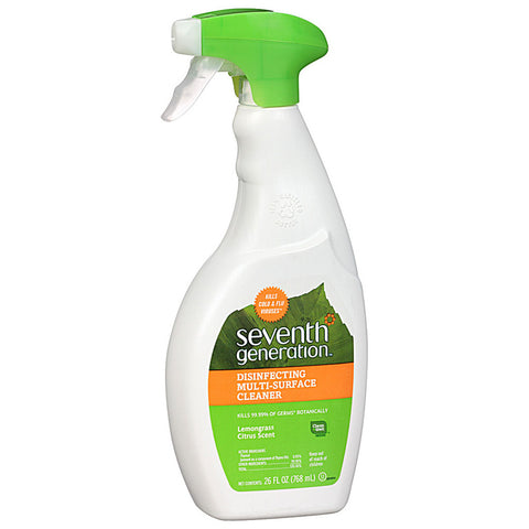 Seventh Generation Disinfecting Multi-Surface Cleaner Lemongrass Citrus -- 26 fl oz