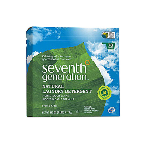 Seventh Generation Natural Laundry Detergent Free and Clear -- 112 oz