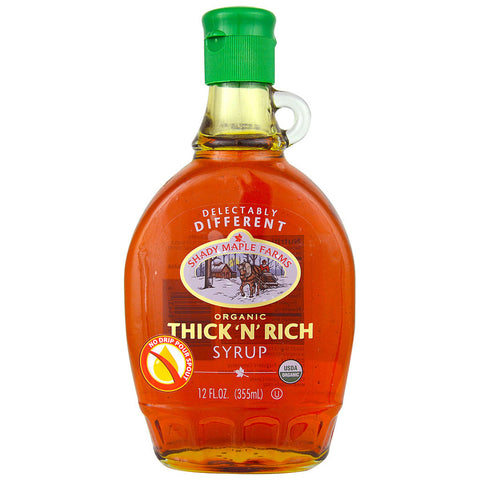 "Shady Maple Farms Organic Pure Maple Syrup Thick ""N"" Rich -- 12 fl oz"