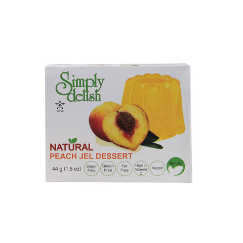 Simply Delish Natural Jel Dessert Sugar Free Peach -- 1.6 oz