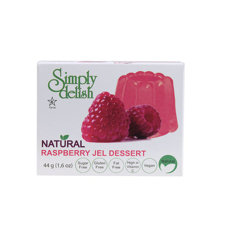 Simply Delish Natural Jel Dessert Sugar Free Raspberry -- 1.6 oz