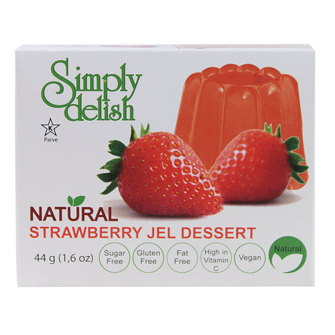 Simply Delish Natural Jel Dessert Sugar Free Strawberry -- 1.6 oz