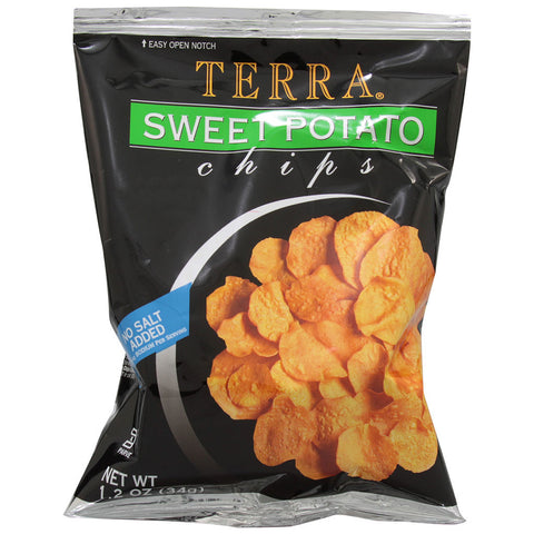 Terra Real Vegetable Chips No Salt Added Sweet Potato -- 1.2 oz