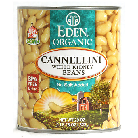 Eden Foods Organic Cannellini White Kidney Beans -- 29 oz