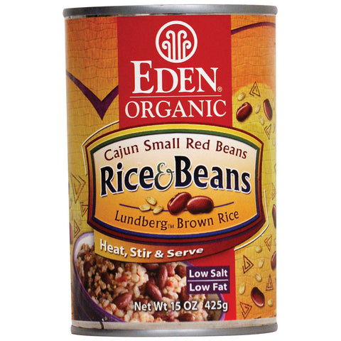 Eden Foods Organic Brown Rice Cajun Small Red Beans -- 15 oz