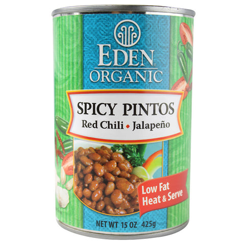 Eden Foods Organic Spicy Pintos Red Chili & Jalapeno -- 15 oz