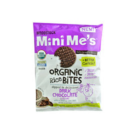 Woodstock Mini Me's Organic Rice Bites Dark Chocolate -- 2.1 oz