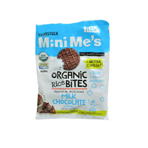 Woodstock MiniMe's Organic Rice Bites Milk Chocolate -- 2.1 oz