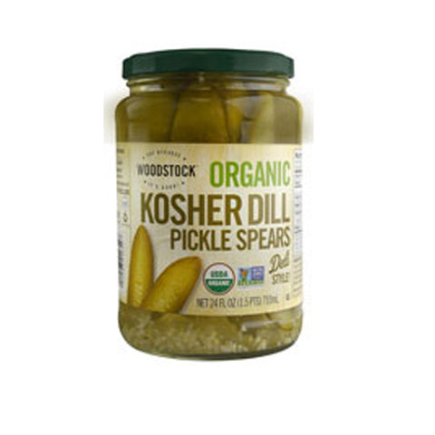 Woodstock Organic Kosher Dill Pickle Spears -- 24 fl oz