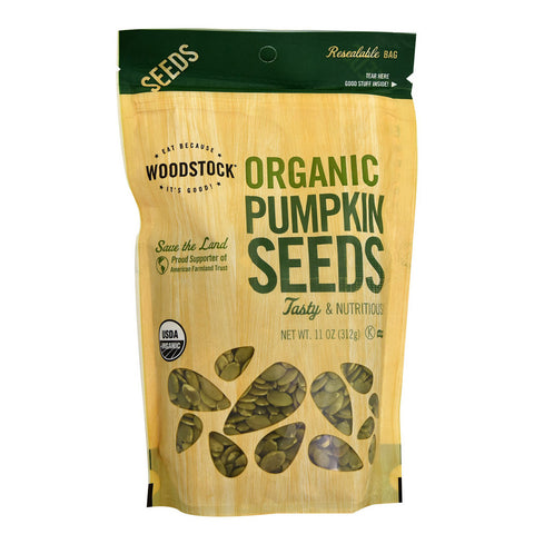 Woodstock Organic Pumpkin Seeds -- 11 oz