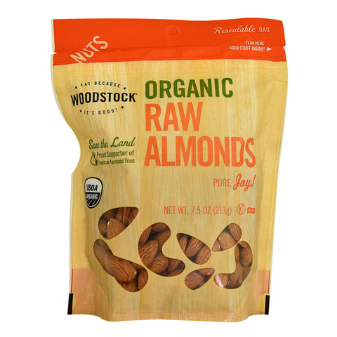 Woodstock Organic Raw Almonds -- 7.5 oz
