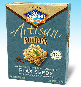 Blue Diamond Artisan Nut-Thins Flax Seeds Gluten Free -- 4.25 oz