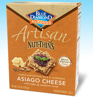 Blue Diamond Artisan Nut-Thins Asiago Cheese -- 4.25 oz