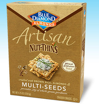 Blue Diamond Artisan Nut Thins Multi-Seeds Gluten Free -- 4.25 oz