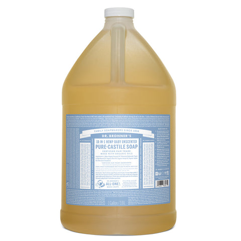 Dr. Bronner's Pure Castle Liquid Soap Baby Mild Unscented (1 gallon)