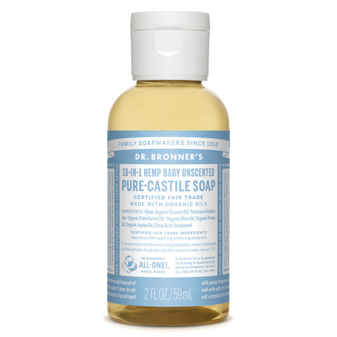 Dr. Bronner's Pure Castle Liquid Soap Baby Mild Unscented (2oz)