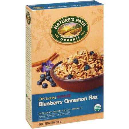 Nature's Path Organic Optimum Powerå¨ Cereal Blueberry Cinnamon -- 14 oz