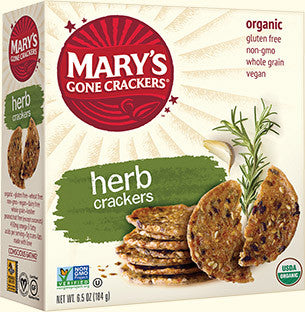 Mary's Gone Crackers Organic Seed Crackers Herb -- 6.5 oz