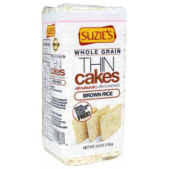 Suzie's Whole Grain THIN Cakes Puffed Crackers Brown Rice -- 4.9 oz