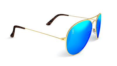 Jetsetter Aviator - MIAMI - Gold / Blue Mirror 58mm - Dicks Cottons Sunglasses  - 2