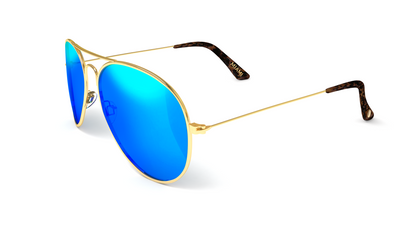 Jetsetter Aviator - MIAMI - Gold / Blue Mirror 58mm - Dicks Cottons Sunglasses  - 3