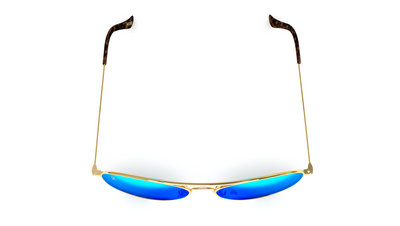 Jetsetter Aviator - MIAMI - Gold / Blue Mirror 58mm - Dicks Cottons Sunglasses  - 4