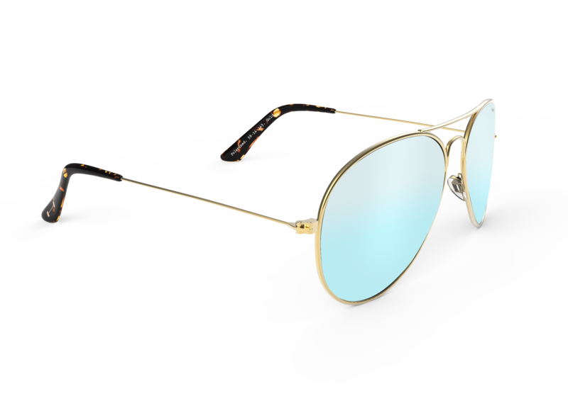 Jetsetter Aviator - Mint Blue + Gold