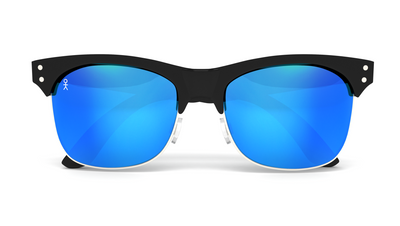 Yachtmaster - BVI - Matte Black with Blue Mirrored Lens - Dicks Cottons Sunglasses  - 4
