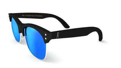 Yachtmaster - BVI - Matte Black with Blue Mirrored Lens - Dicks Cottons Sunglasses  - 3