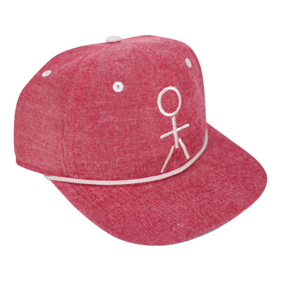 Stickman Snapback Hat - Heather Red / White - Dicks Cottons Sunglasses  - 1