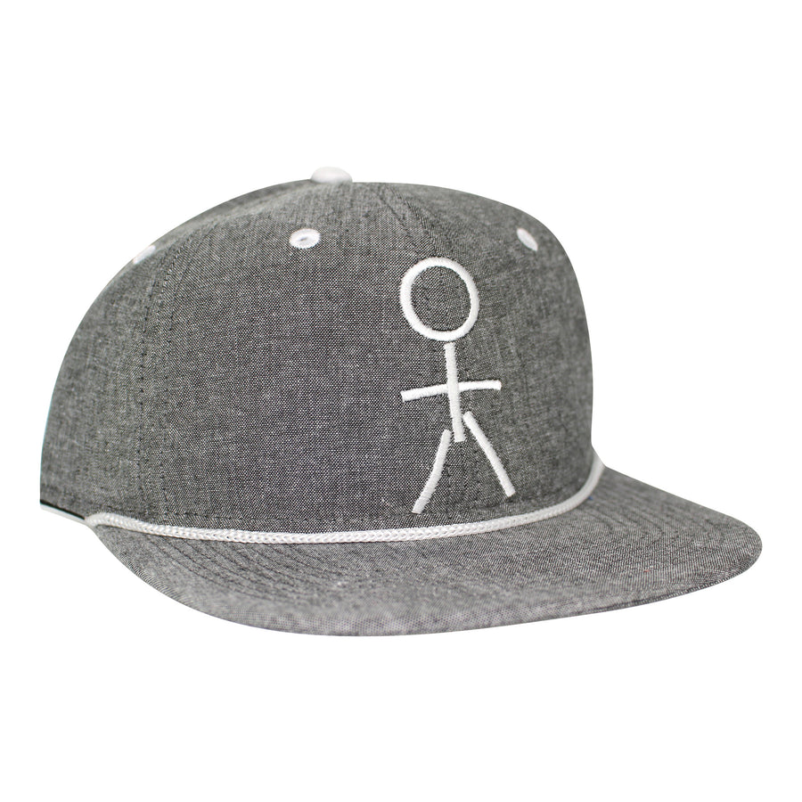 Stickman Snapback Gray Hat - Heather / White - Dicks Cottons Sunglasses