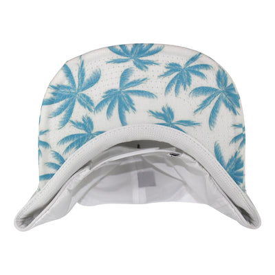 Stickman Snapback Hat (Nylon) - White / Blue / Palm Tree Brim - Dicks Cottons Sunglasses  - 2