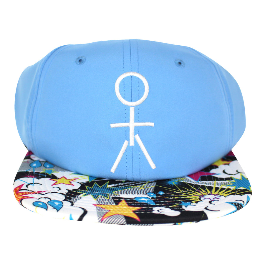 Stickman Snapback Hat - Carolina Blue / POW Brim - Dicks Cottons Sunglasses  - 1