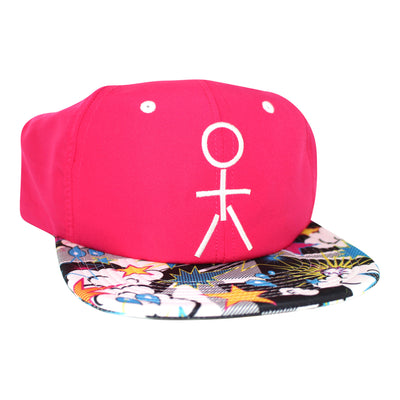 Stickman Snapback Hat - Fuschia / POW Brim - Dicks Cottons Sunglasses  - 3