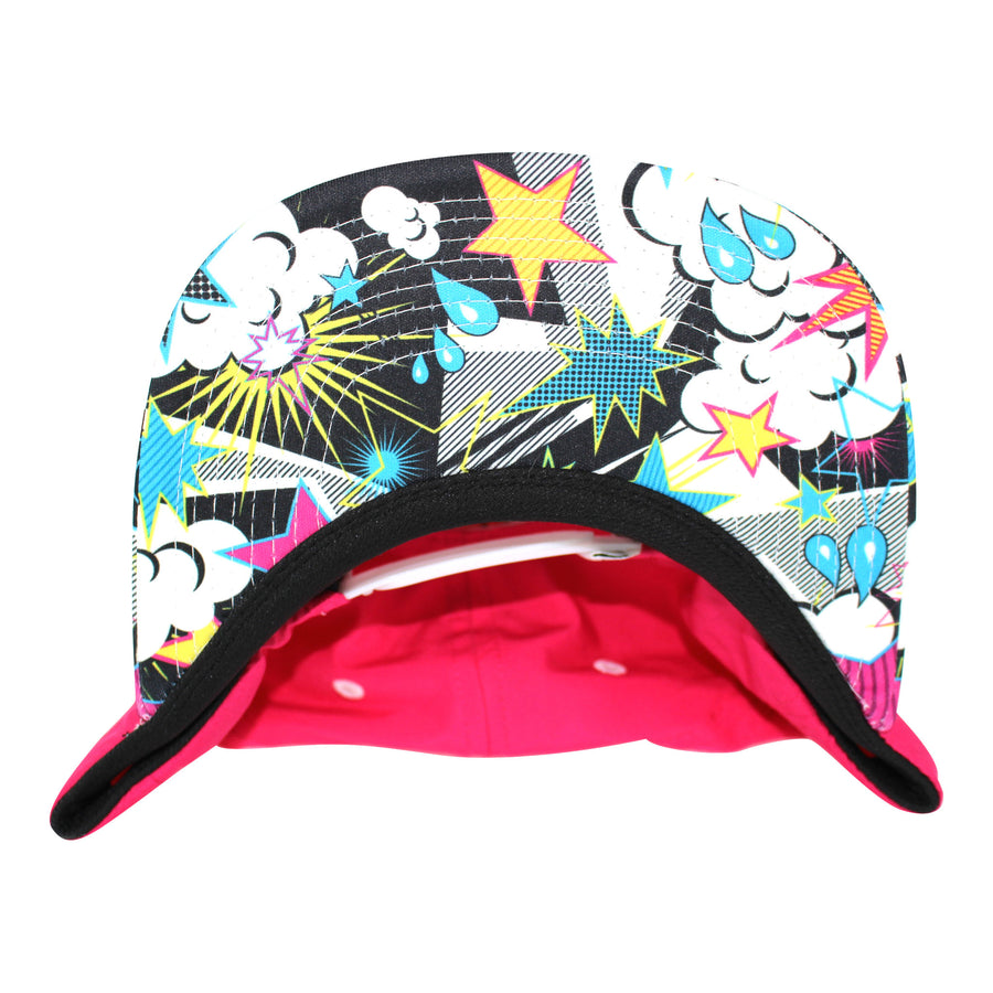 Stickman Snapback Hat - Fuschia / POW Brim - Dicks Cottons Sunglasses  - 1