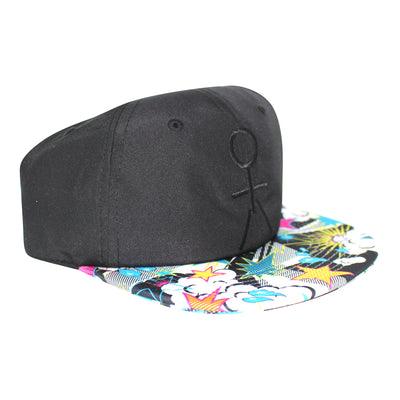 Stickman Snapback Hat - Black / POW Brim - Dicks Cottons Sunglasses  - 3