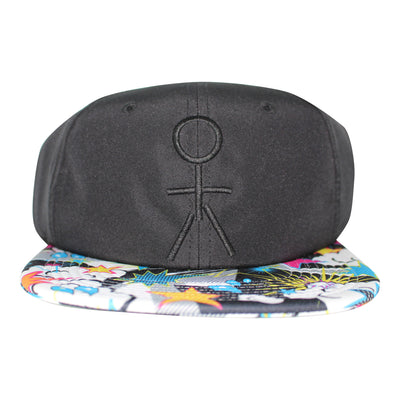 Stickman Snapback Hat - Black / POW Brim - Dicks Cottons Sunglasses  - 1
