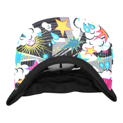 Stickman Snapback Hat - Black / POW Brim - Dicks Cottons Sunglasses  - 2