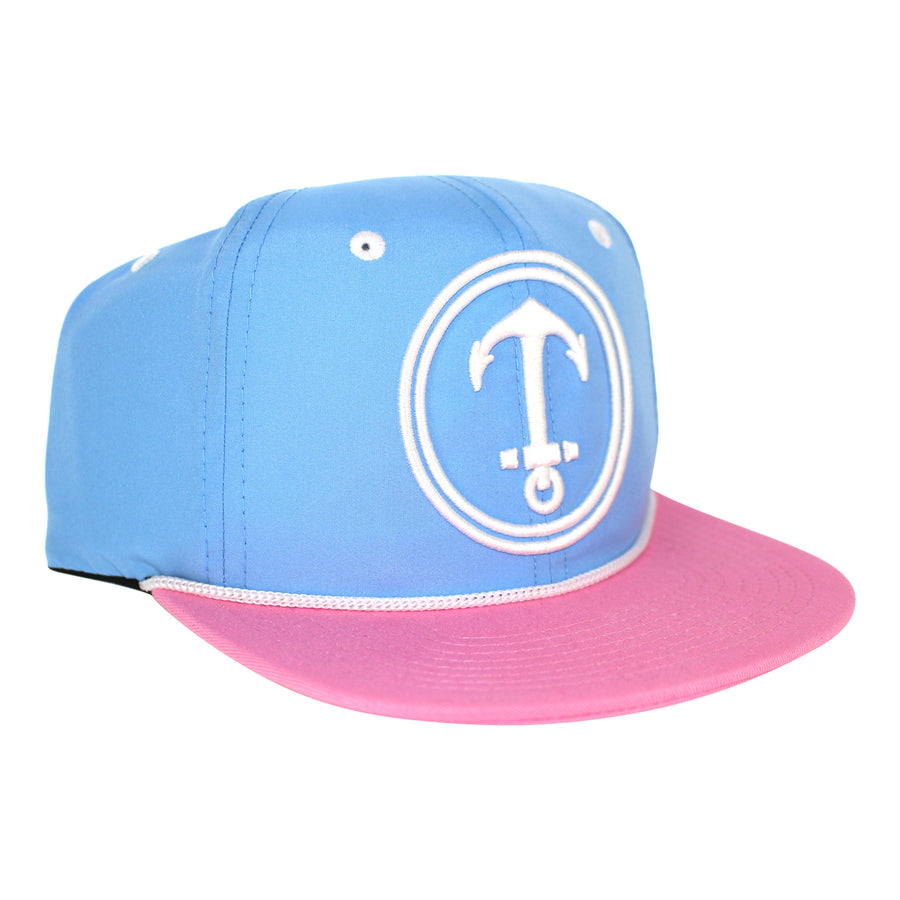 KIDS HAT - Yacht Party - Carolina Blue / Pink /White - Dicks Cottons Sunglasses  - 1