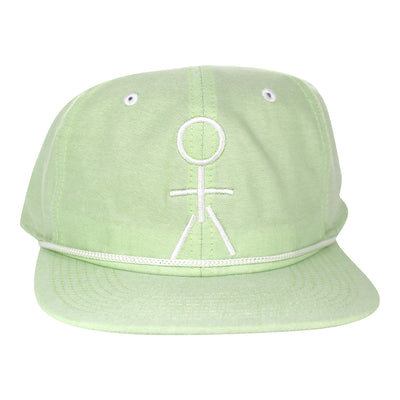 Stickman Snapback Hat - Lime Green / White - Dicks Cottons Sunglasses  - 1