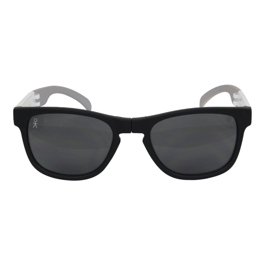 Nantucket Fold-up - Straight Wharf (Black/White/Matte Gray) - Dicks Cottons Sunglasses  - 1