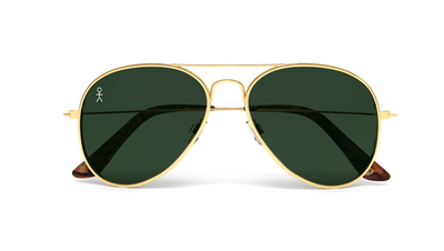 Jetsetter Aviator - Los Angeles - Gold / Dark Green 58mm - Dicks Cottons Sunglasses  - 4