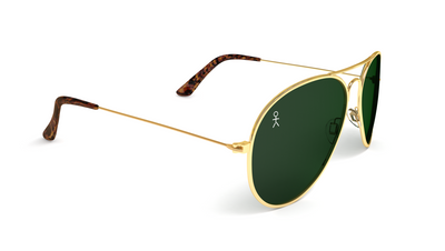 Jetsetter Aviator - Los Angeles - Gold / Dark Green 58mm - Dicks Cottons Sunglasses  - 2