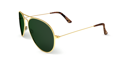 Jetsetter Aviator - Los Angeles - Gold / Dark Green 58mm - Dicks Cottons Sunglasses  - 3