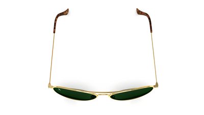 Jetsetter Aviator - Los Angeles - Gold / Dark Green 58mm - Dicks Cottons Sunglasses  - 5