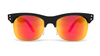 Yachtmaster - Mallorca - Matte Black Frame with Orange Mirrored Lenses - Dicks Cottons Sunglasses  - 1
